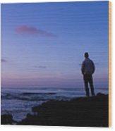 Contemplation At Sunset Wood Print