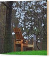 Contemplation Chair Wood Print
