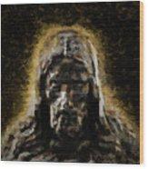 Contemplative Christ Wood Print
