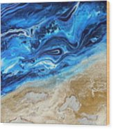 Contemporary Abstract Beach Nacl Wood Print