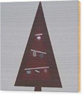 Contemporary Christmas Tree Wood Print