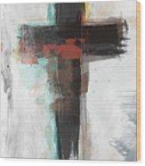 Contemporary Cross 1- Art By Linda Woods Wood Print