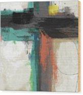 Contemporary Cross 2- Art By Linda Woods Wood Print