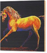 Contemporary Equine Painting Illuminating Spirit Wood Print