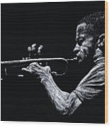 Contemporary Jazz Trumpeter Wood Print