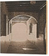 Conti Alley Wood Print