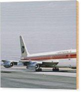 Continental Airlines 720-024b N17207 Los Angeles July 22 1972 Wood Print