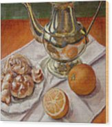 Continental Breakfast Wood Print