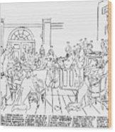 Continental Congress, 1774 Wood Print