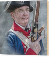 Continental Soldier Portrait Wood Print