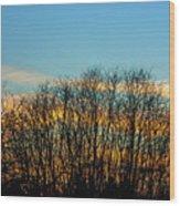 Contrail At Dusk Wood Print