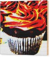 Contrasted Cupcake Wood Print