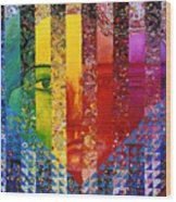 Conundrum I - Rainbow Woman Wood Print