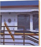 Converted Tugboat Cabin   Canal Park  Duluth Minnesota Wood Print