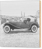 Convertible Antique Car Wood Print