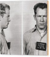 Convict No. 1428 - Whitey Bulger - Alcatraz 1959 Wood Print