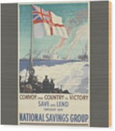 Convoy Your Country To Victory Wood Print