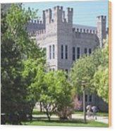 Cook Hall Illinois State Univerisity Wood Print