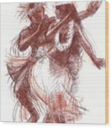 Cook Islands Pas-de-deux Wood Print