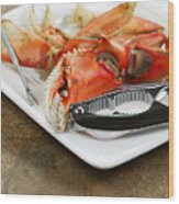 Cooked Crab Ready To Eat  Wood Print