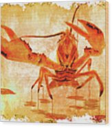Cooked Lobster On Parchment Paper Wood Print