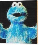 Cookie Monster - Sesame Street - Jim Henson Wood Print