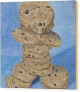 Cookie Monster Wood Print