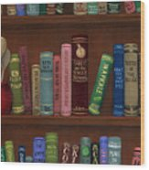 Cookin' The Books Wood Print