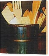 Cooking Retro Wood Print