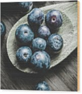 Cooking With Blueberries Wood Print