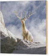 Cool Deer Wood Print