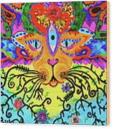 Cool Kitty Cat Wood Print