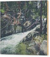 Cool Mountain Stream Wood Print