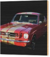 Cool Mustang Wood Print