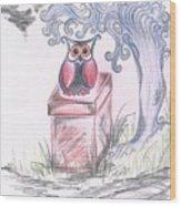 Cool Owl Wood Print