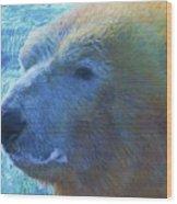 Cool Polar Bear Wood Print