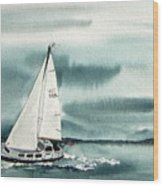 Cool Sail Wood Print