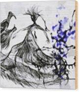 Cool Sketch 128 Wood Print