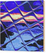 Cool Tile Reflection Wood Print