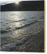 Cool Waters Sunset Wood Print