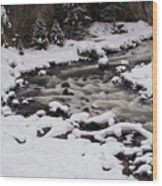 Cool Winding River Wood Print