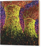 Cooling Towers Wood Print