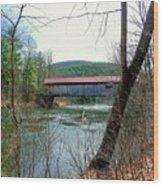 Coombs Covered Bridge Wood Print
