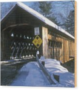 Coombs Winchester Covered Bridge Wood Print