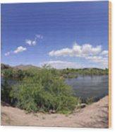 Coons Bluff Salt River Arizona Wood Print