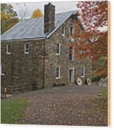 Cooper Mill Fall Wood Print