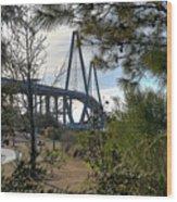 Cooper River Bridge Afternoon Wood Print