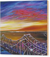 Cooper River Bridge Wood Print by James Christopher Hill