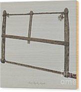 Coopersmith Saw Wood Print