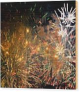 Coors Field Fireworks 3 Wood Print